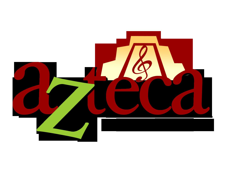 Azteca with temple logo black text